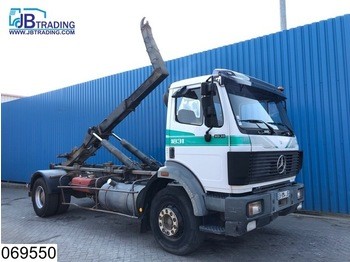 Hook lift truck Mercedes-Benz 1831 EPS 16, Steel suspension, Hook containeer system, Hub reduction