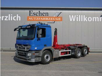 Hook lift truck Mercedes-Benz 2544 L, 6x2, Meiller RK 20.65, Klima, Bl/Lu
