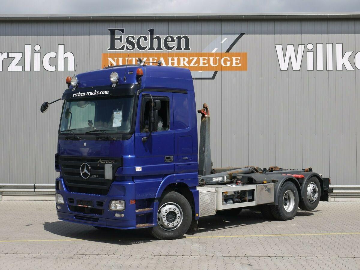 hook lift truck Mercedes-Benz 2546 LL, 6x2, Meiller RK 20.65, Retarder
