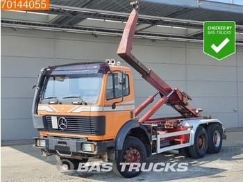 Hook lift truck Mercedes-Benz 2629 6X4 V8 Manual Big-Axle Steelsuspension