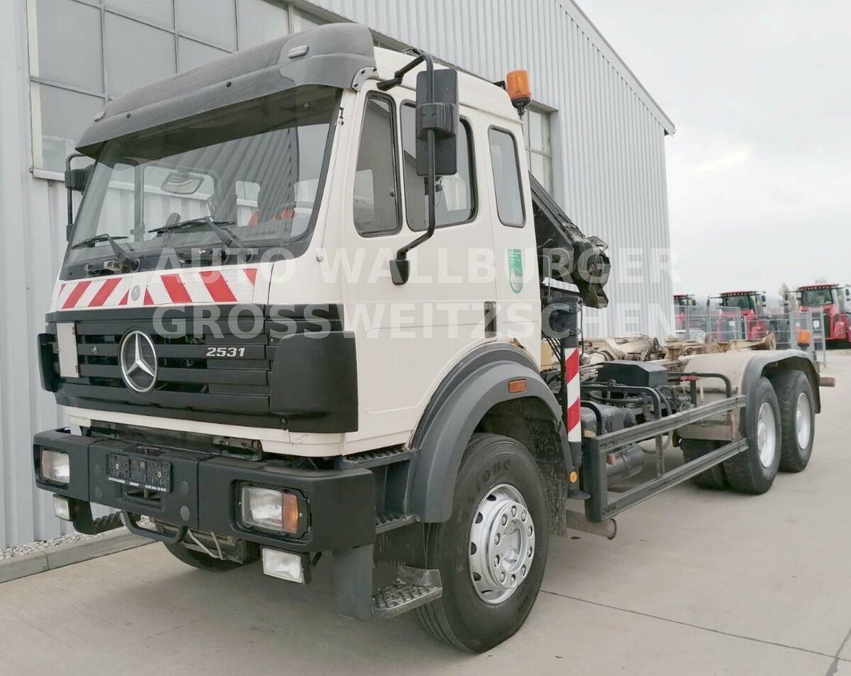 hook lift truck Mercedes-Benz 2631 /2531 SK / Abrollkipp. 6x4 + KRAN + KLIMA
