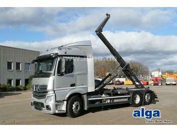Hook lift truck Mercedes-Benz 2643 L Actros 6x2, Meiller RK20.67, Liftachse