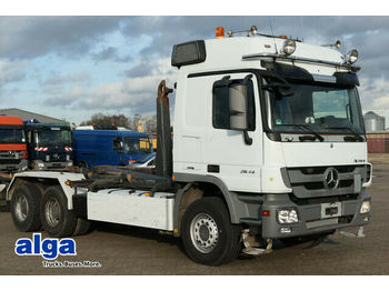 Hook lift truck Mercedes-Benz 2644 LS Actros 6x4, MP3, Meiller RK20.65, TOP