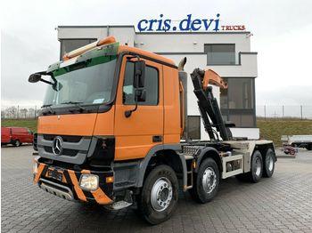 Hook lift truck Mercedes-Benz 3246 8x4 Moser Hakengerät   Retarder   Euro 5