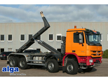 Hook lift truck Mercedes-Benz 4148 K Actros 8x6, Retarder, Meiller RK30.70