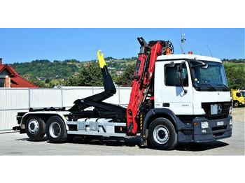 Hook lift truck Mercedes-Benz ACTROS 2541 Abrollkipper 5,40m + KRAN*6x2!