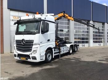 Hook lift truck Mercedes-Benz ACTROS 2542 Euro 6 Effer 14 ton/meter laadkraan