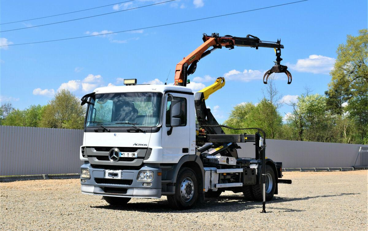 hook lift truck Mercedes-Benz Actros 1844 Abrollkipper +PK 7001-EHA + FUNK!