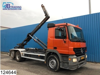 Hook lift truck Mercedes-Benz Actros 2541 6x2, Hooklift, Airco, Hub reduction