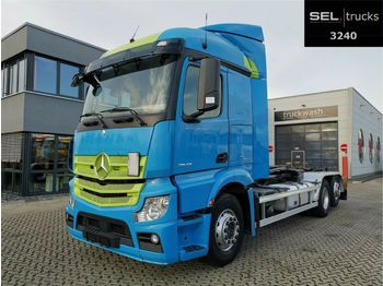 Hook lift truck Mercedes-Benz Actros 2542 6x2 / HIAB / Lift-Lenkachse