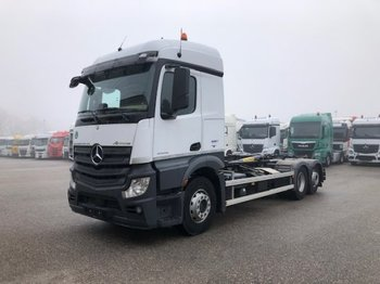 Hook lift truck Mercedes-Benz Actros 2545 6x2 Abroller, E6 ,Retarder, Lenkachse