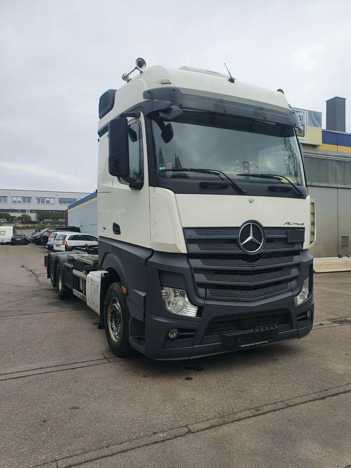 hook lift truck Mercedes-Benz Actros 2545 HIAB Abroller Bigspace  E6 Intarder