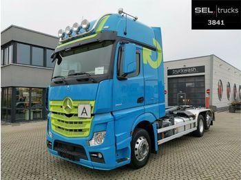 Hook lift truck Mercedes-Benz Actros 2551/Meiller-Kipper/Lenkachse/Xenon/NAVI