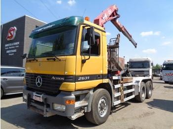 Hook lift truck Mercedes-Benz Actros 2631 +hmf 1250/2