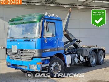 Hook lift truck Mercedes-Benz Actros 2640 6X4 Big-Axle 3-Pedals Retarder Euro 3