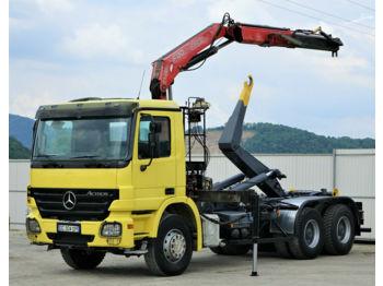Hook lift truck Mercedes-Benz Actros 2641 Abrollkipper 4,80m+ Kran*6x4*