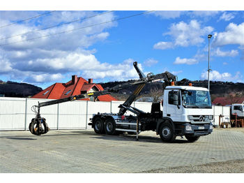 Hook lift truck Mercedes-Benz Actros 2641 Abrollkipper+Kran*6x4* Top Zustand!!