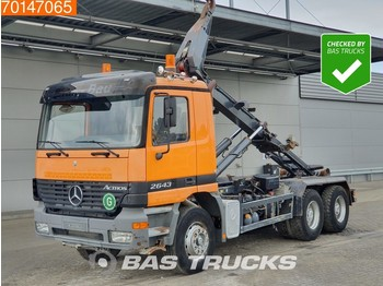 Hook lift truck Mercedes-Benz Actros 2643 6X4 Big-Axle Steelsuspension 3-Pedals Euro 3