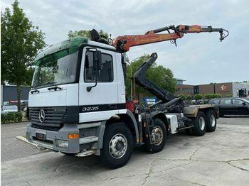 Hook lift truck Mercedes-Benz Actros 3235 8X4 FULL STEEL + EPSILON PALFINGER E