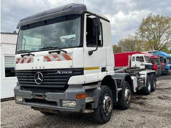 Hook lift truck Mercedes-Benz Actros 3240 manual gearbox 8x4