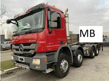 Hook lift truck Mercedes-Benz Actros 3241 8X4 FULL STEEL MET HIAB HOOKLIFT