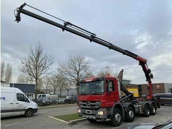 Hook lift truck Mercedes-Benz Actros 3241 8X4 FULL STEEL MET HIAB HOOKLIFT + H
