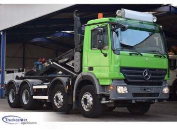 Hook lift truck Mercedes-Benz Actros 3248, Euro 5, Steel springs, 8x4