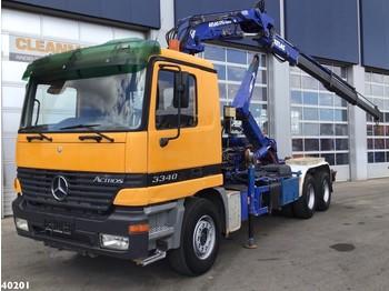 Hook lift truck Mercedes-Benz Actros 3340 6x4 Atlas 17 ton/meter laadkraan