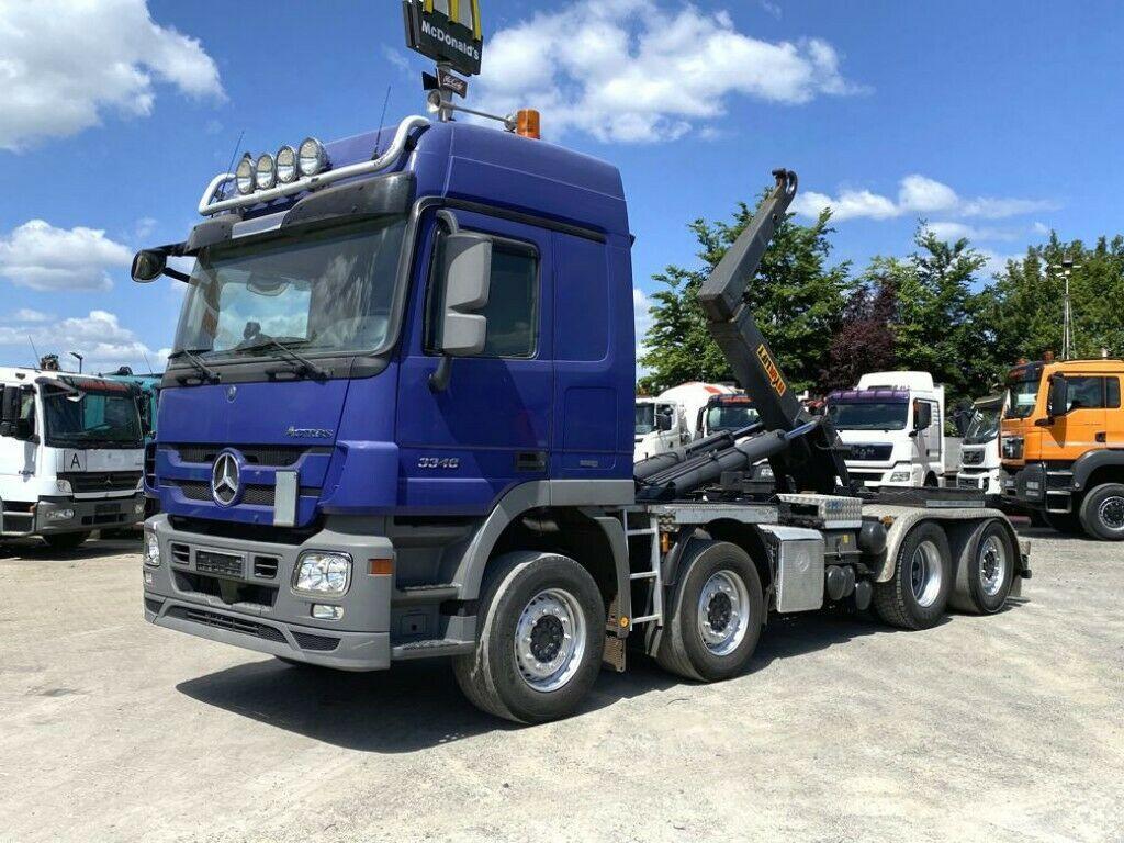 hook lift truck Mercedes-Benz Actros 3348 L 8x2/2 Abrollkipper