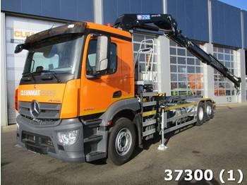 Hook lift truck Mercedes-Benz Antos 2540 HMF 21 ton/meter laadkraan