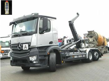 Hook lift truck Mercedes-Benz Antos 2745 6x2 Abrollkipper Meiller, Lift/Lenk