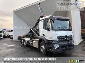 Hook lift truck Mercedes-Benz Arocs 2546L 6x2+Meiller Abrollkipper RS 21.70