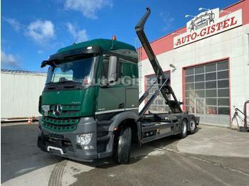 Hook lift truck Mercedes-Benz Arocs 2548 6x2 BL Lenkachse Meiller RK 20.70