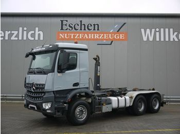 Hook lift truck Mercedes-Benz Arocs 2640L 6x4, HIAB XR21 S51, Klima, AP-Achsen