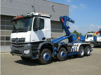 Hook lift truck Mercedes-Benz Arocs 3243 8x4 Abrollkipper Meiller 30 to, Funk