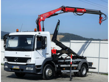 Hook lift truck Mercedes-Benz Atego 1224 Abrollkipper + Kran* Top Zustand!!