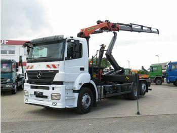 Hook lift truck Mercedes-Benz Axor 2536 L Abrollkipper mit Kran Greiferst