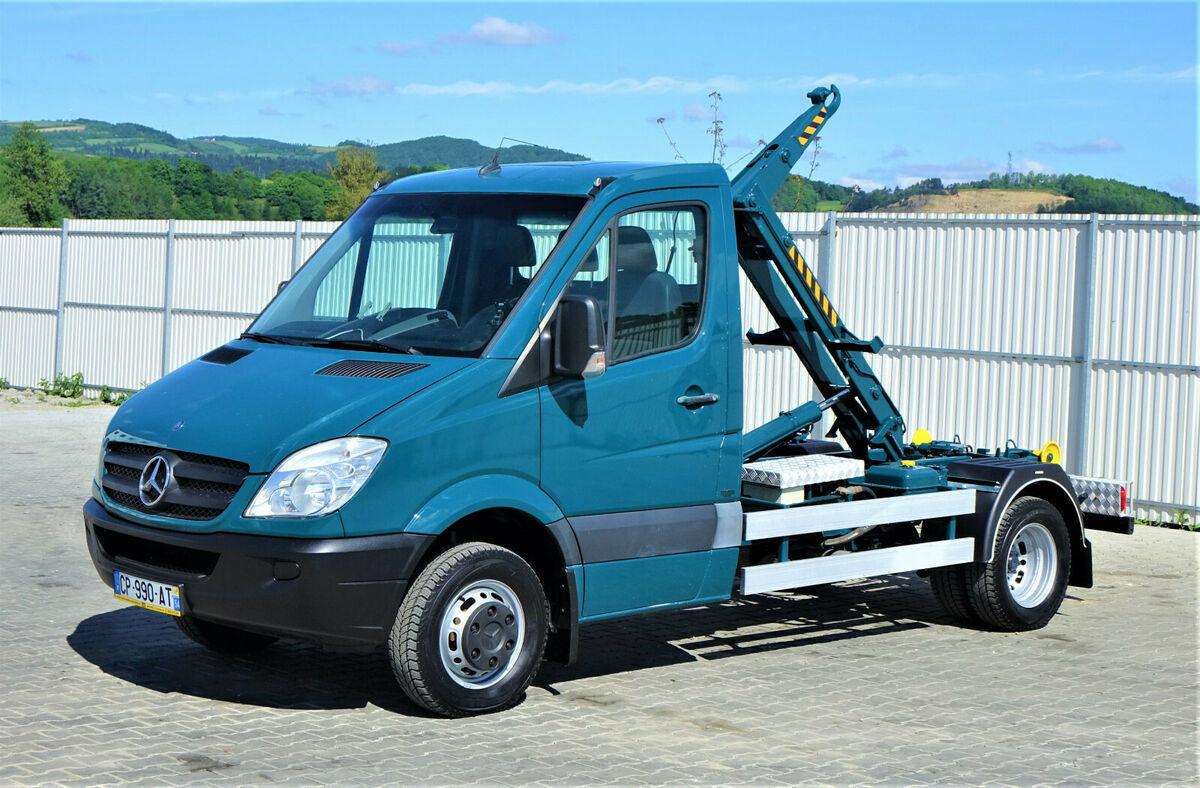 hook lift truck Mercedes-Benz SPRINTER 515 CDI  Abrollkipper 2,80m*Topzustand!