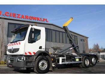 Hook lift truck RENAULT 6x2 PREMIUM 410.26 ROLL OFF TIPPER HOOKLIFT PALFINGER