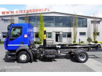 Hook lift truck RENAULT D12-210, E6, 60.000km , NEW HOOK HYVA 7-40-S , retarder , AC ,