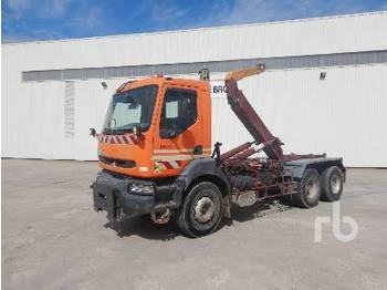 Hook lift truck RENAULT PREMIUM 6x4