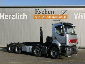 Hook lift truck Renault 460 DXI Premium Lander, 8x4, Hiab XR 21 S 61