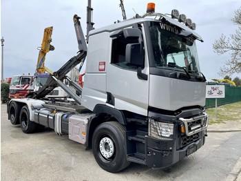Hook lift truck Renault C480 6x2/4 (ROBSON DRIVE) HAAKSYSTEEM / PORTE CONTAINER / ABROLLKIPPER --- 261.000km - NOYENS HAAK - EURO 6 - TOP STAAT