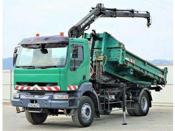 Hook lift truck Renault Kerax 270dci Abrollkipper 4,40 m+KranTopzustand!