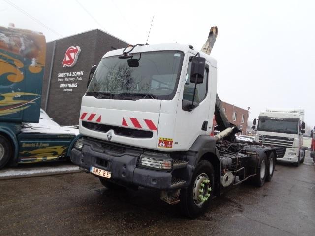 hook lift truck Renault Kerax 340 manual pump