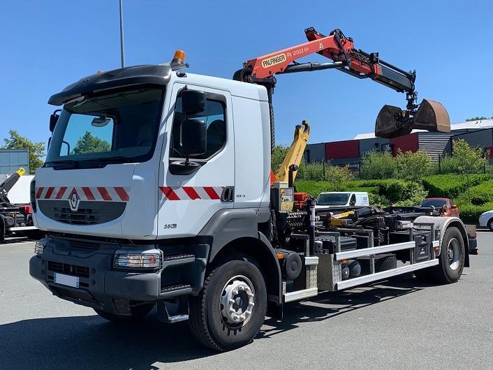 hook lift truck Renault Kerax 380 DXI