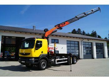 Hook lift truck Renault Kerax 450.26 DXi Abroller mit  Kran PK27002