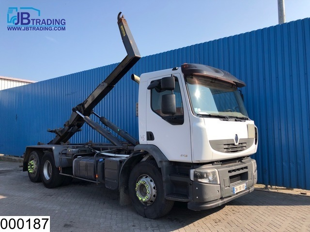 hook lift truck Renault Lander 410 Dxi 6x2, Manual, Hook lift, Retarder, Airco, Hub reduction, euro 4