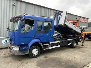 Hook lift truck Renault MIDLUM 220 DCI 4X2 MANUAL FULL STEEL + ATLAS 80.