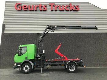 Hook lift truck Renault MIDLUM HOOKLIFT + HIAB CRANE 4X STOCK